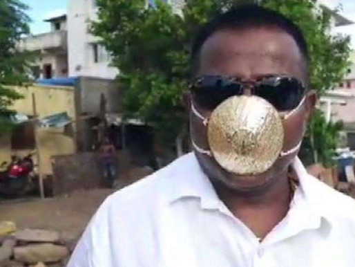 Man With Gold Mask