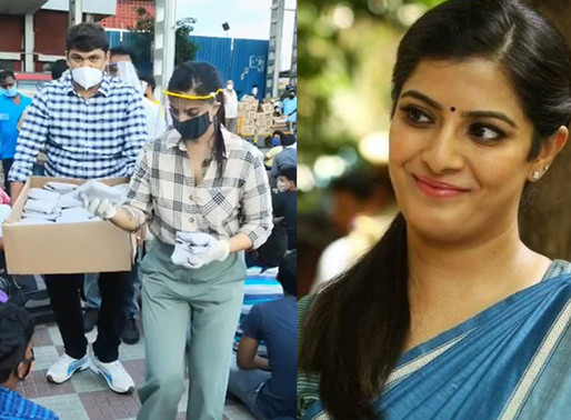 Reel life villain to Real life Hero: Varlaxmi Saratkumar helps migrants relocate in Chennai