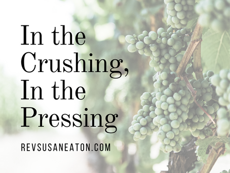 In the Crushing, In the Pressing