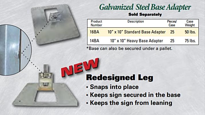Galvanized Steel Base Adapter