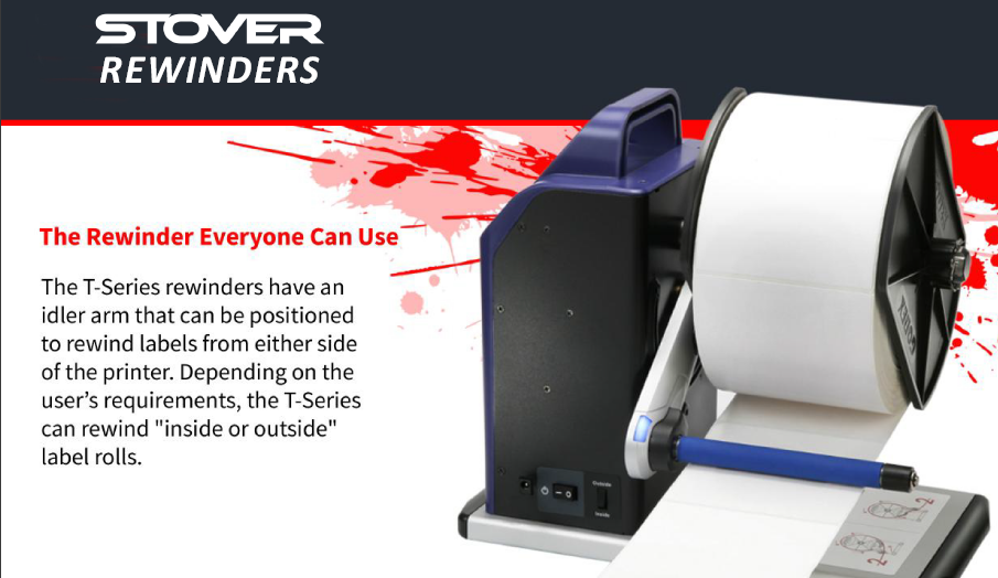 Modified Label Re-winders
