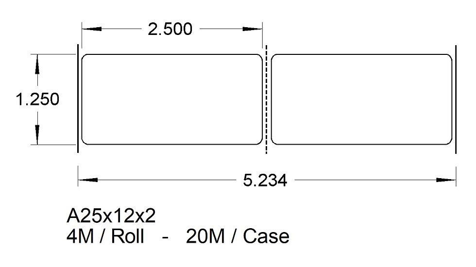 A25X12X2 (2up) ADHESIVES  (20,000)