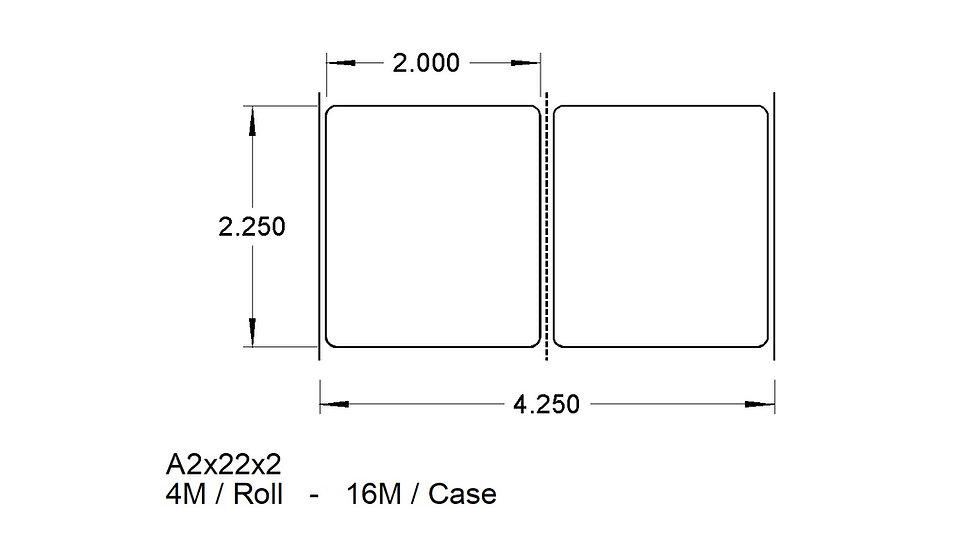 A2X22X2 (2up) ADHESIVES  (16,000)