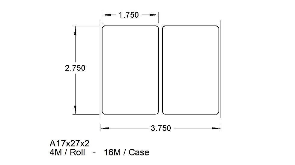 A17X27X2 (2up) ADHESIVES  (16,000)