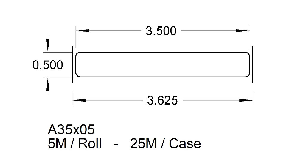A35X05 TRAY LABELS   (25,000)