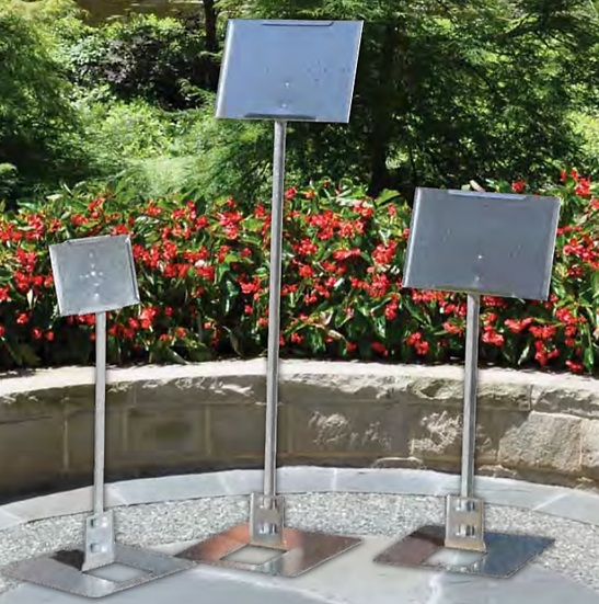 "7""x5"" and 5""x7"" Sign Holders with Stake"