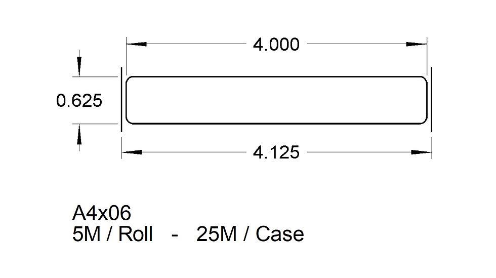 "4"" X 5/8"" TRAY LABELS Case Qty 25,000"
