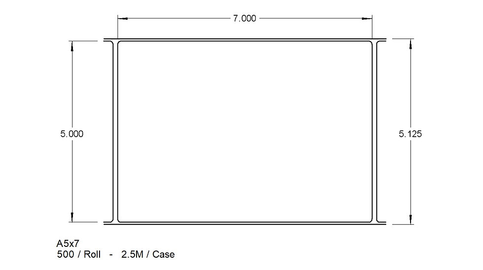 "5"" X 7"" ADHESIVES  Case Qty 2,500"