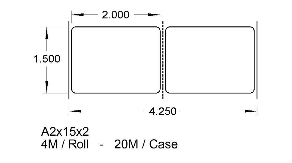 A2X15X2 (2up) ADHESIVES  (20,000)