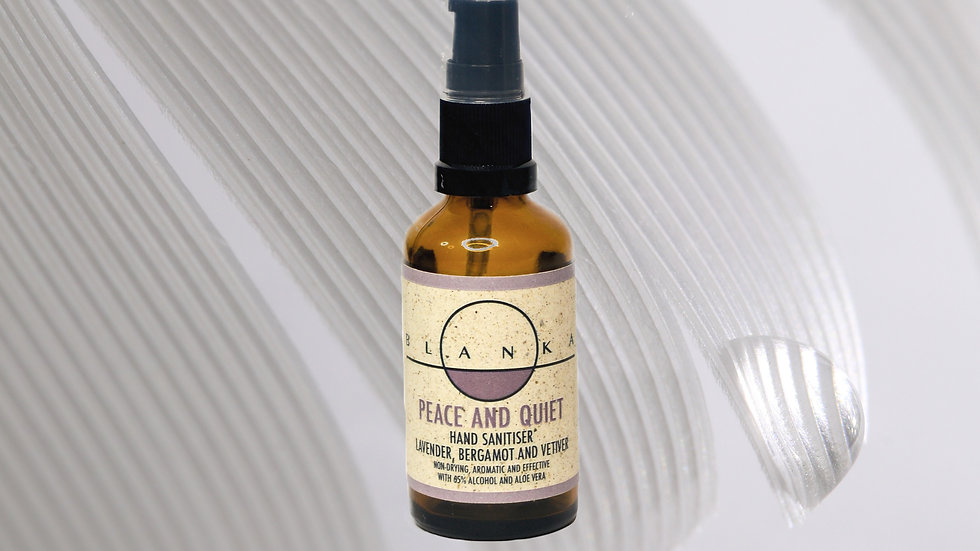 Peace and quiet Hand Sanitiser: lavender, bergamot and vetiver