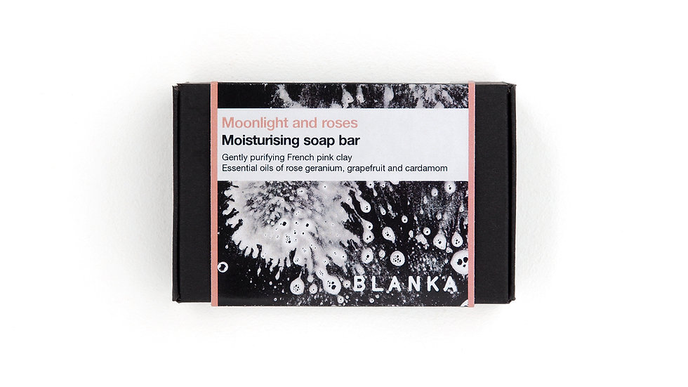 BLANKA Moonlight and roses Artisan Soap Bar with Organic Essential Oils