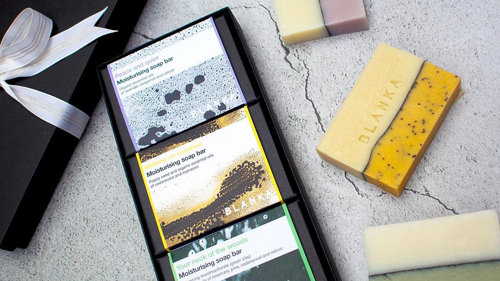Natural artisan soap gift set