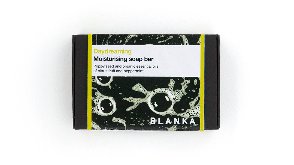 BLANKA Daydreaming Citrus and Poppyseed Artisan Soap with Organic Essential Oils