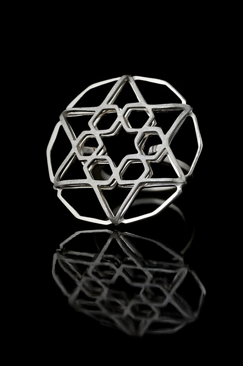 Star shaped double layered ring