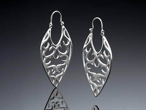Tear shaped earrings