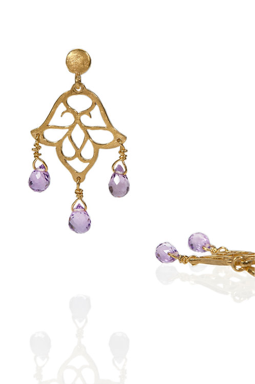 Small Dangling Earring with Stones (style 2)