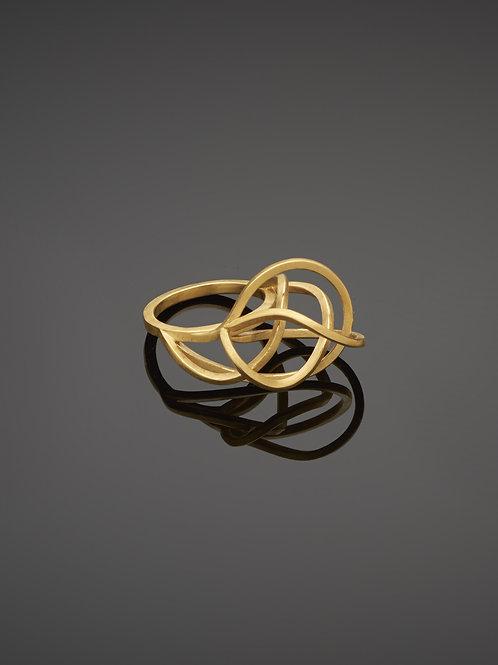 Round tangled ring
