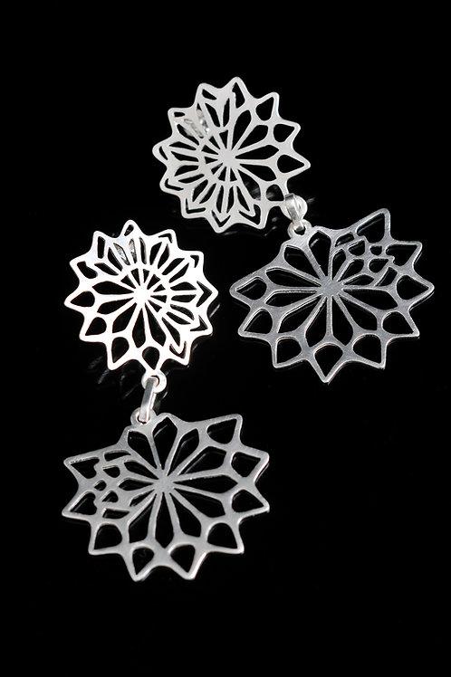 Lotus dangling earrings