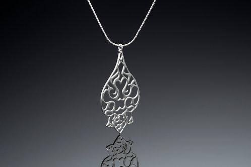 Large tear drop pendant necklace