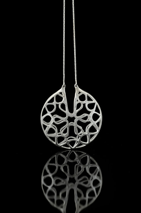 Double layered pendant necklace