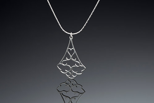Small and Large triangle pendant necklace