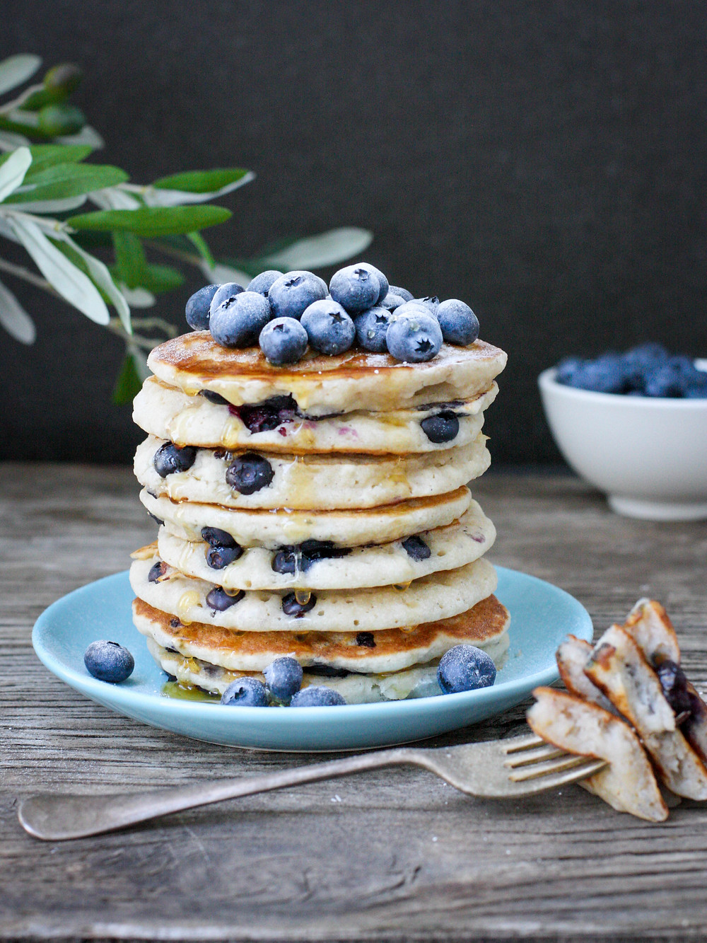 Vegan Blueberry Gluten Free Pancakes