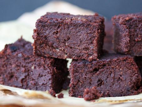 Vegan Gluten Free Chocolate Brownies with Hidden Veg