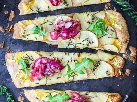 Salt and Vinegar Potato Pizza