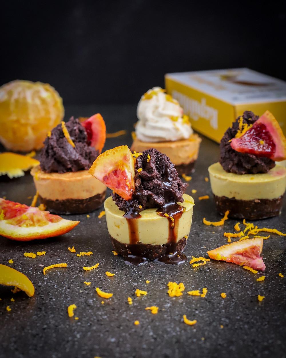 Jaffa Espresso Cheesecakes