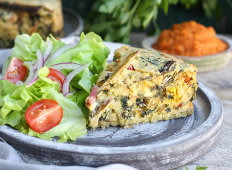Chickpea Frittata + Veg Deliveries