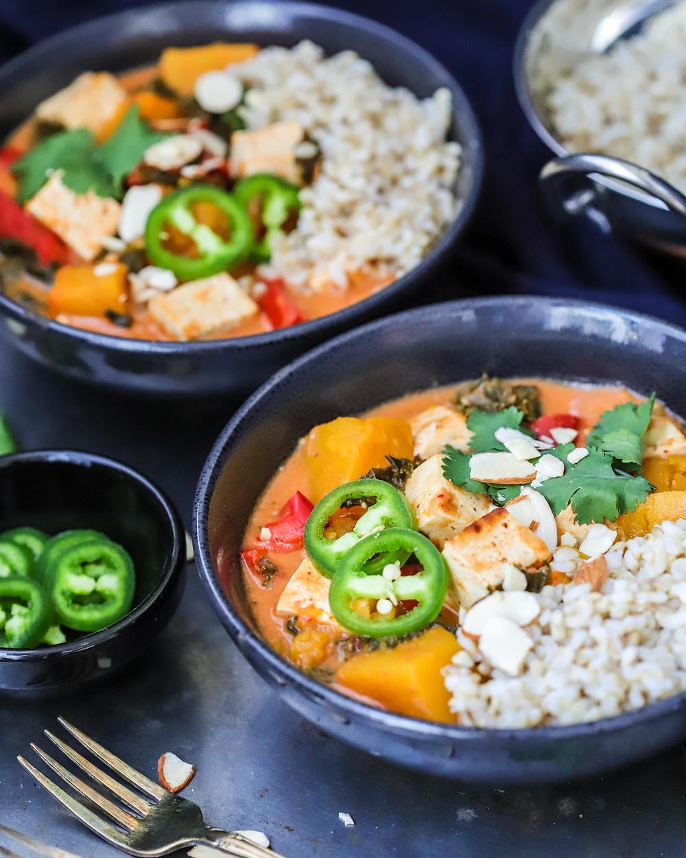 Tofu, Pumpkin & Almond Butter Curry