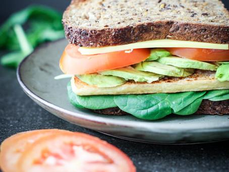 Tofu Omelette Sandwich
