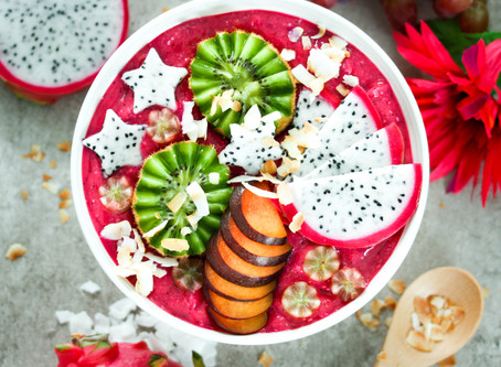 Dragonfruit Berry Coconut Smoothie Bowl