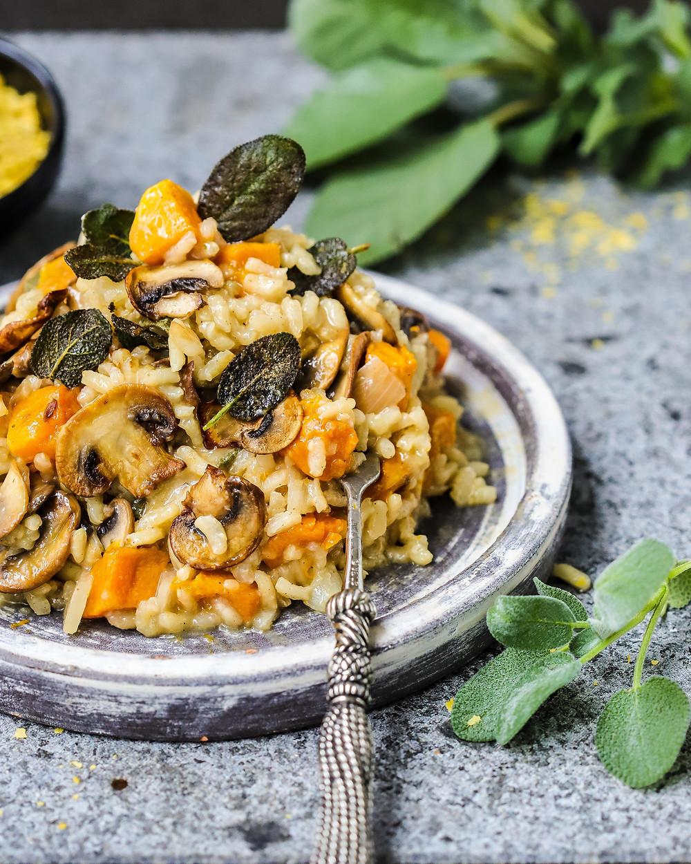 Roast Pumpkin, Mushroom & Sage Risotto