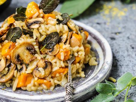 Vegan Roast Pumpkin, Mushroom & Sage Risotto