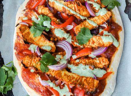 Vegan Tandoori Chicken Pizza