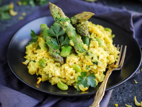 Turmeric Lemon Asparagus Risotto
