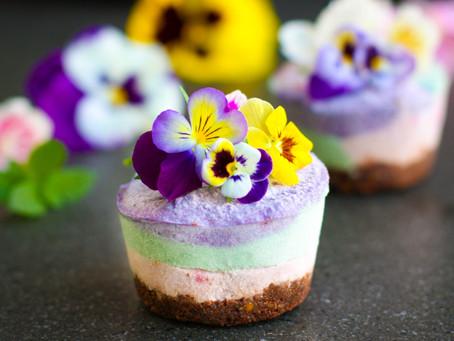 Rainbow Superfood Cheesecakes