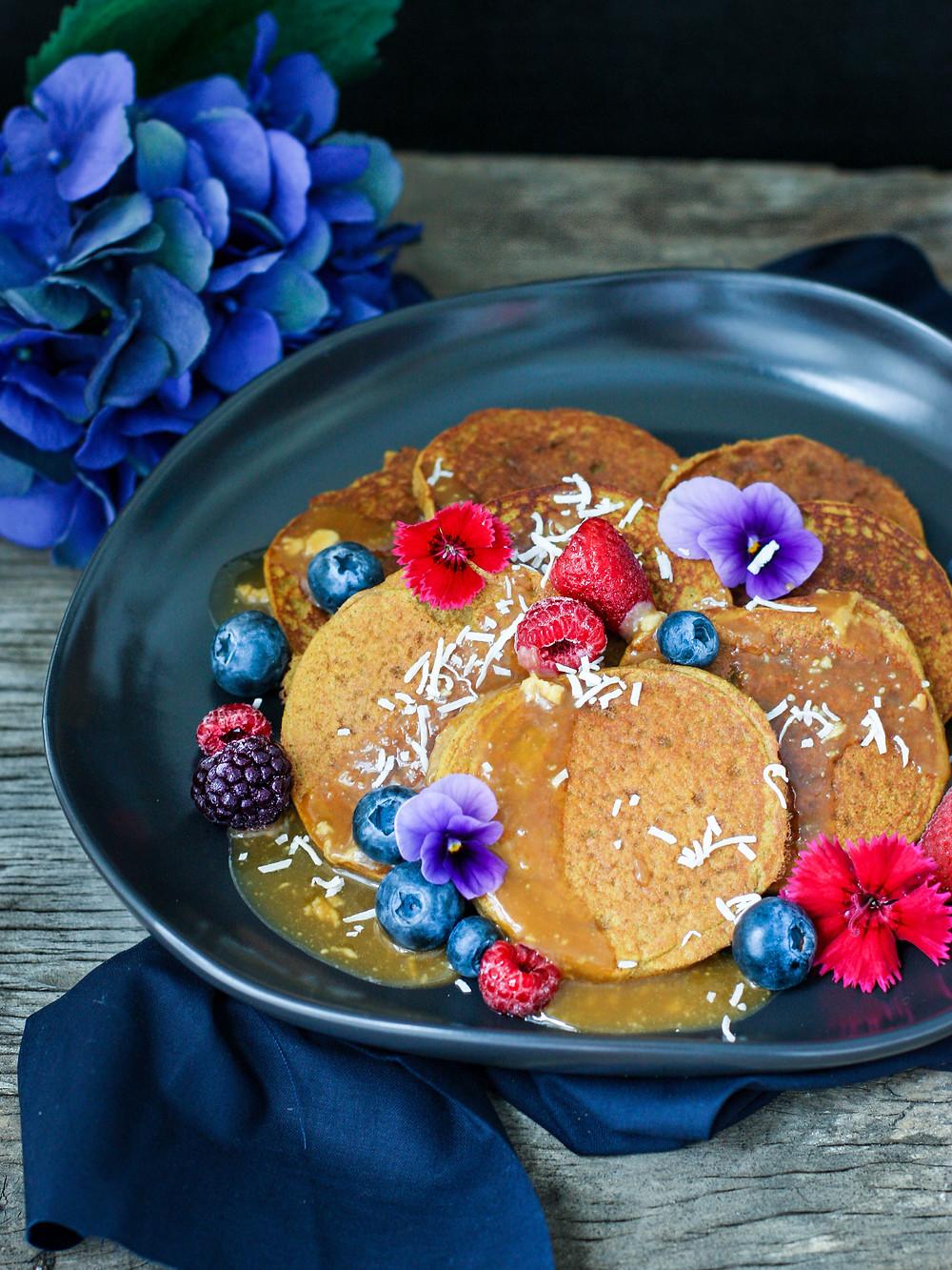 Vegan Pumpkin Protein Pancakes