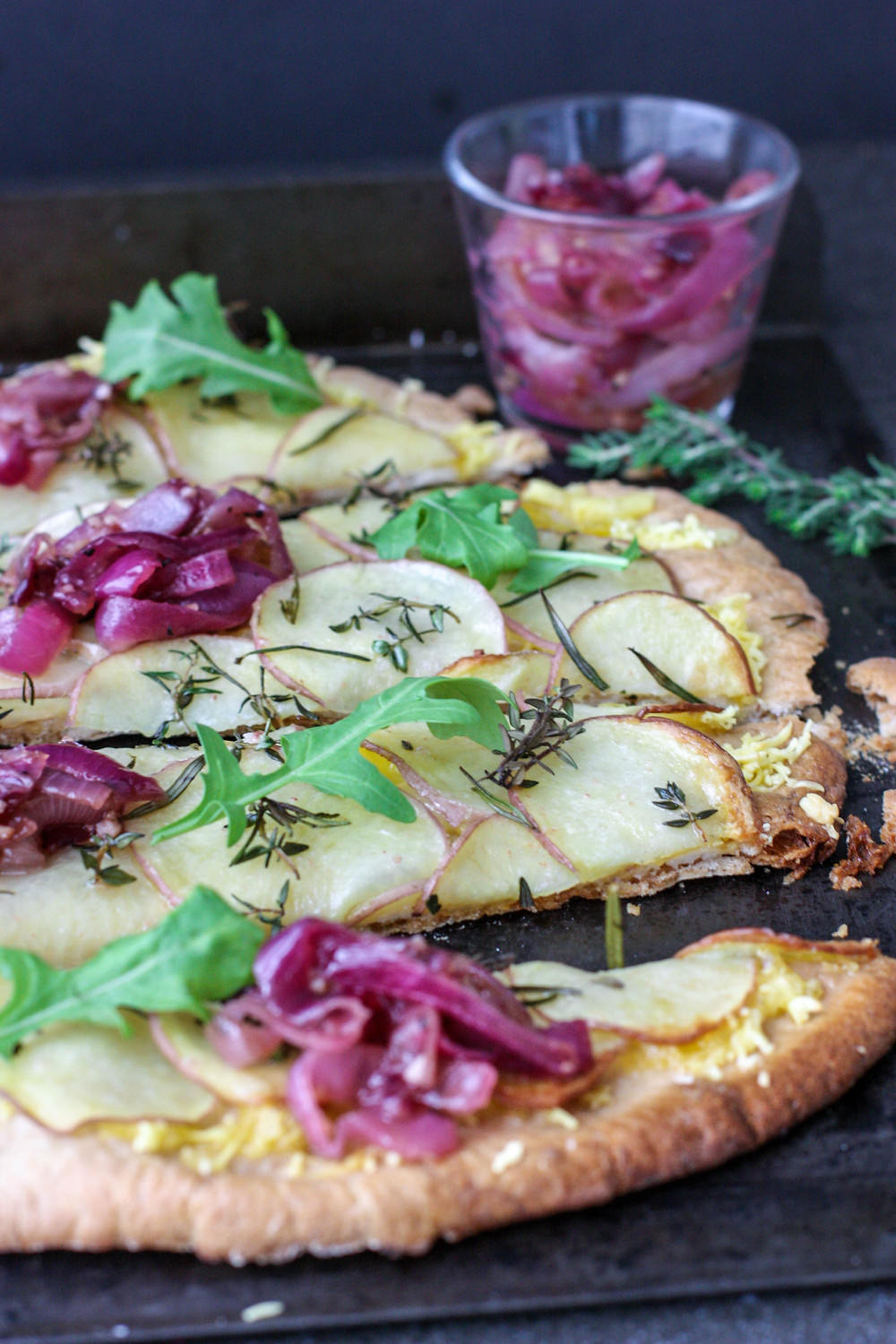Vegan Salt and Vinegar Potato Pizza