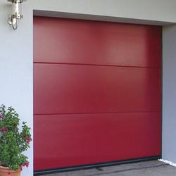 Porte sectionnelle rouge