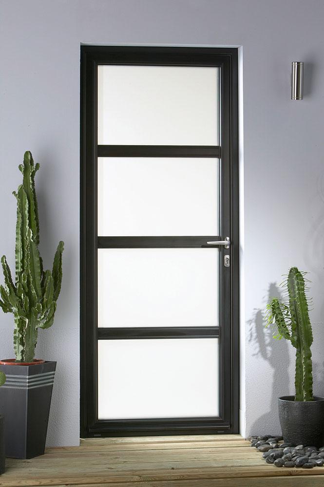 Porte en aluminium tendance