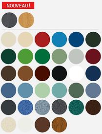 Une gamme de couleur pour répondre à vos attentes