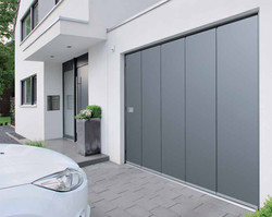 Porte sectionnelle latérale grise