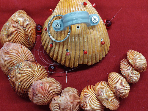 Wind chime kit #110 large Scallop with multiple clamshells