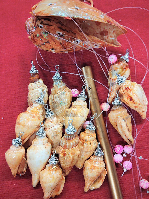Wind chime kit #117 small blistered Margin shell and cone shaped shells