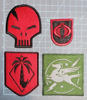 Cobra Viper, Cobra beret flash, Dusty unit patch, Crankcase unit patch