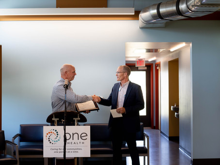 Gov. Gianforte tours, contributes salary to One Health Bighorn