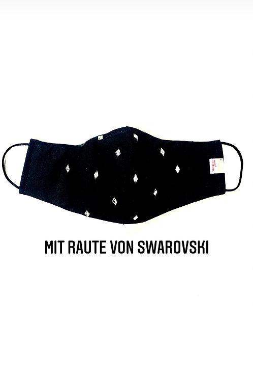 Viroblock Schutzmaske Raute Swarovski uni (INNEN -UND AUSSEN)
