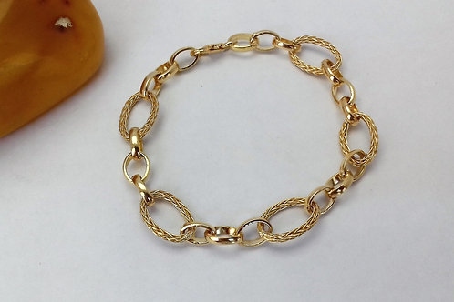 Altın kaplama oval tasarım bayan bileklik